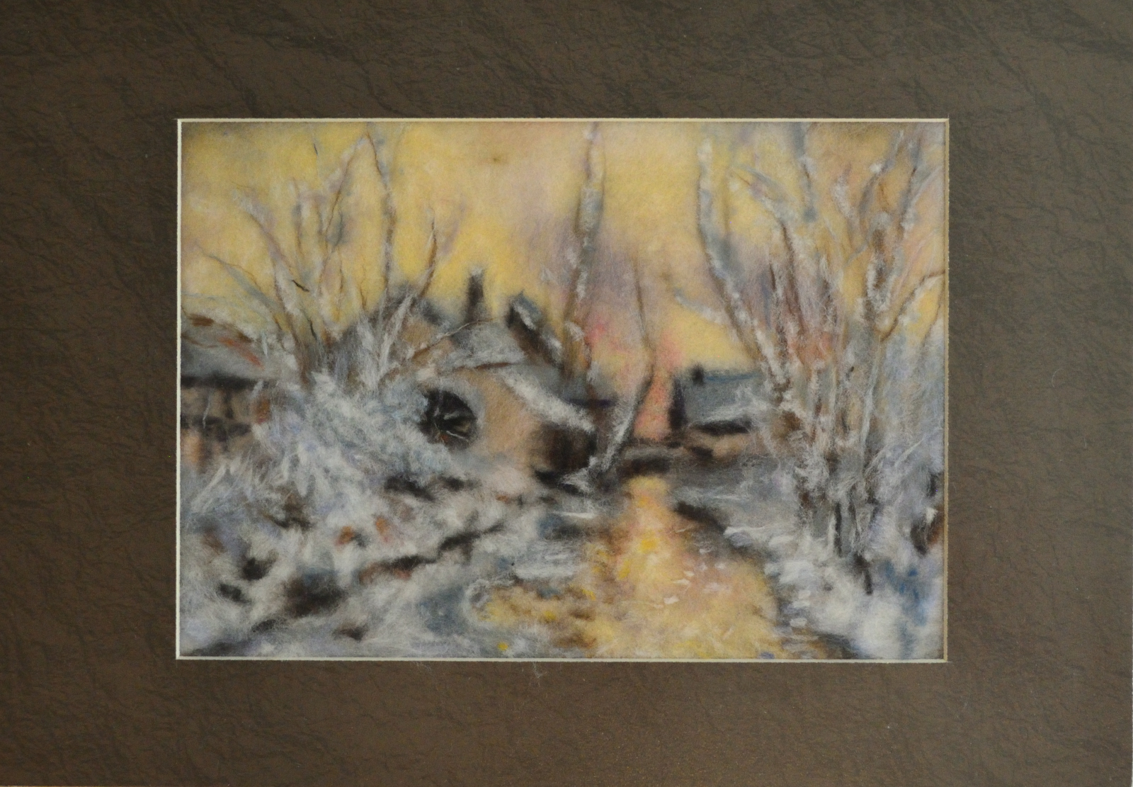 Spring. Wool Art Gallery. Picture made of fine merino wool