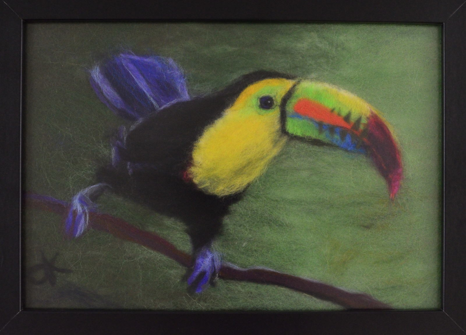 Toucan. Wool Art Gallery. Picture made of fine merino wool